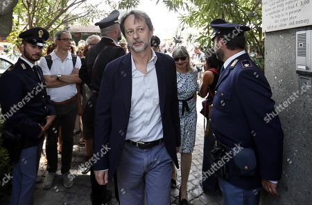 Deputy Mayor and Councilor for Cultural Development Roma Capitale, Luca Bergamo arrives to pay homage at the grave of late Italian writer Andrea Camilleri who was buried in the non-Catholic cemetery in Testaccio, Rome, Italy, 18 July 2019. Camilleri, who won loyal fans worldwide for his series of books about Sicilian Inspector Montalbano, has died at the age of 93 on 17 July 2019.