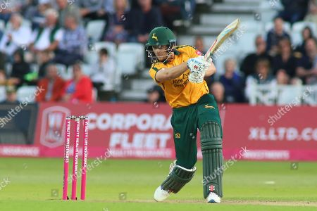 Joe Clarke of Nottinghamshire Outlaws square drives during the Vitality T20 Blast North Group match between Nottinghamshire County Cricket Club and Worcestershire County Cricket Club at Trent Bridge, West Bridgford