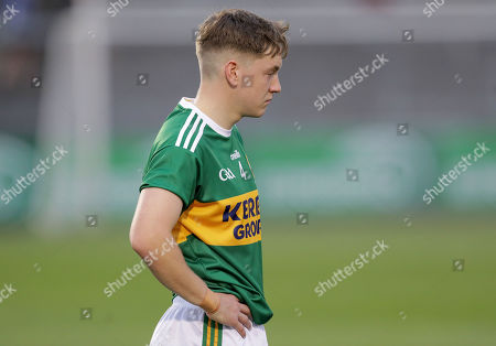 Cork vs Kerry. Kerry's Michael Potts dejected at the end of the game