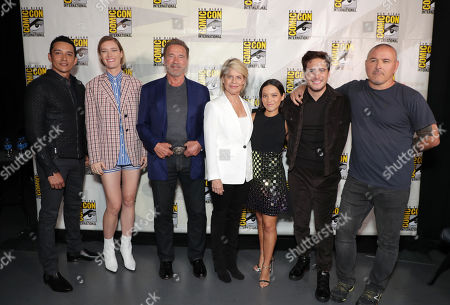 Gabriel Luna, Mackenzie Davis, Arnold Schwarzenegger, Linda Hamilton, Natalia Reyes, Diego Boneta, Tim Miller, Director