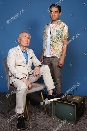 """George Takei, Derek Mio. George Takei, left, and Derek Mio pose for a portrait to promote the television series """"The Terror: Infamy"""" on day one of Comic-Con International, in San Diego"""