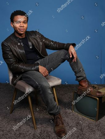 """Stock Picture of Robert Bailey Jr. poses for a portrait to promote the television series """"Emergence"""" on day one of Comic-Con International, in San Diego"""