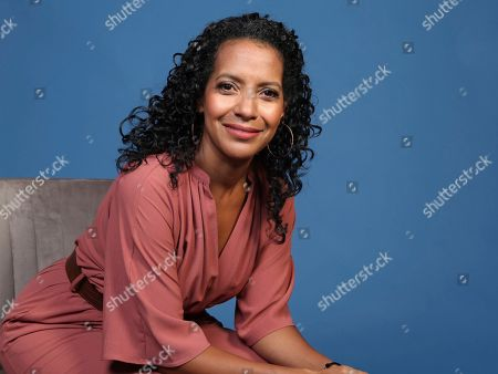 """Stock Picture of Zabryna Guevara poses for a portrait to promote the television series """"Emergence"""" on day one of Comic-Con International, in San Diego"""
