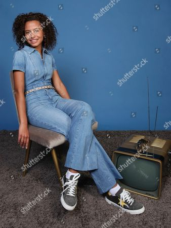 "Ashley Aufderheide poses for a portrait to promote the television series ""Emergence"" on day one of Comic-Con International, in San Diego"
