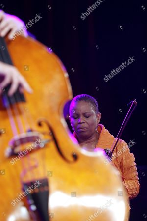 US violinist Regina Carter performs with her band during a concert as part of 43rd Vitoria-Gasteiz Jazz Festival at Mendizorroza stadium in Vitoria, Basque Country, Spain, 18 July 2019.