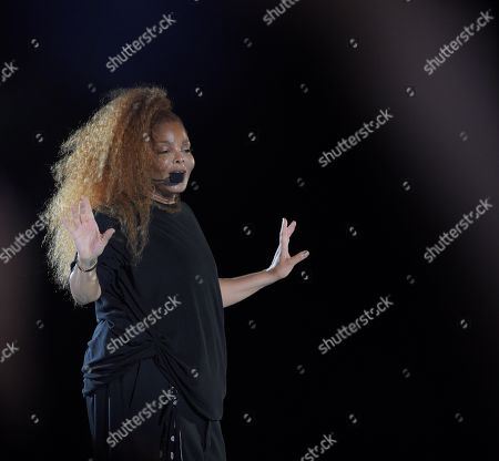 Janet Jackson performs during Jeddah World Fest, at KASC Stadium in Jeddah, Saudi Arabia, 18 July 2019.