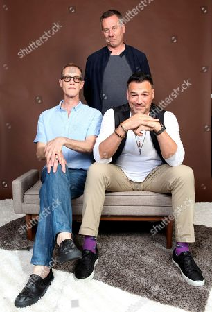"Aleks Paunovic, Christopher Heyerdahl, Jonathan Lloyd Walker. Christopher Heyerdahl, from left, Jonathan Lloyd Walker and Aleks Paunovic pose for a portrait to promote the television series ""Van Helsing"" on day one of Comic-Con International, in San Diego"