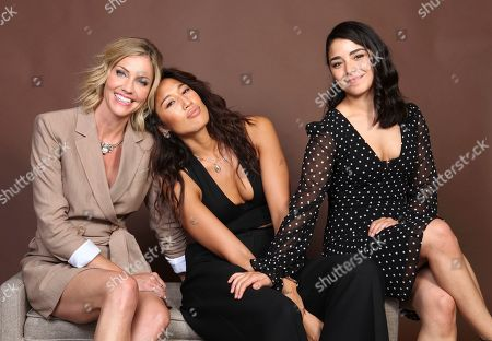 "Tricia Helfer, Jennifer Cheon, Nicole Munoz. Tricia Helfer, from left, Jennifer Cheon and Nicole Munoz pose for a portrait to promote the television series ""Van Helsing"" on day one of Comic-Con International, in San Diego"