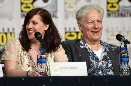 """Allison Tolman, Clancy Brown. Allison Tolman, left, and Clancy Brown participate in the """"Emergence"""" panel on day one of Comic-Con International, in San Diego"""