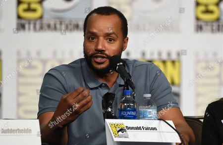 """Donald Faison speaks at the """"Emergence"""" panel on day one of Comic-Con International, in San Diego"""