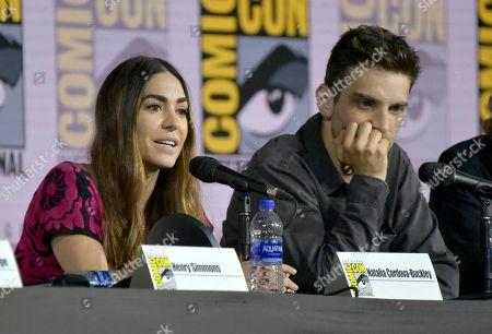 "Natalia Cordova-Buckley, Jeff Ward. Natalia Cordova-Buckley, left, and Jeff Ward participate in the ""Agents of S.H.I.E.L.D."" panel on day one of Comic-Con International, in San Diego"