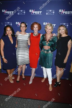 Anne del Castillo, Raphaela Neihausen, Kathy Griffin, Tina Brown and Anne Hubbell