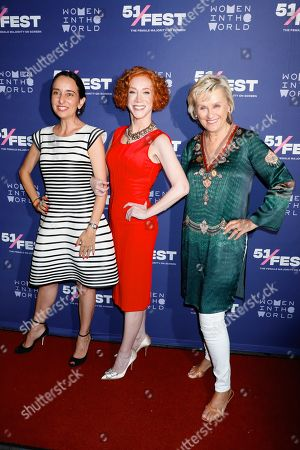 Stock Photo of Raphaela Neihausen, Kathy Griffin and Tina Brown