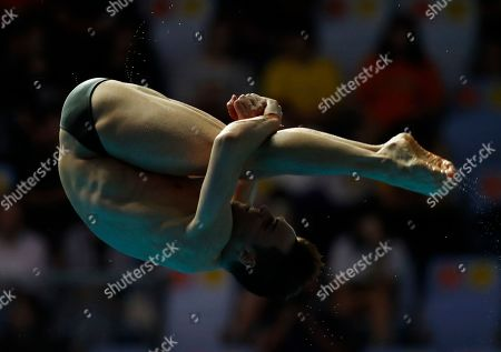 Thomas Daley of Great Britain competes during the Men's 10m Platform diving preliminary at 2019 FINA World Championships in Gwangju, South Korea, 19 July 2019.