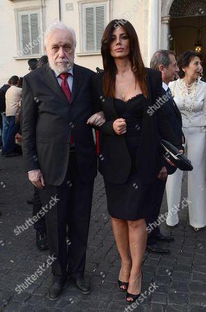 Luciano De Crescenzo and Giovanna Rei