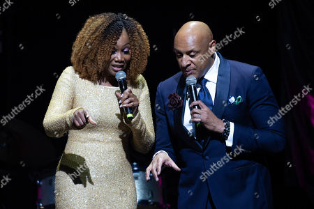 Stock Image of Yolanda Adams and Brian Courtney Wilson perform