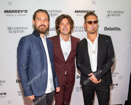 Taylor, Zac and Isaac Hanson of the musical group Hanson
