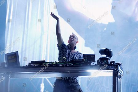 British DJ Fatboy Slim performs during the FIB Benicassim International Festival in Benicasim, Valencia, Spain, 19 July 2019. The festival runs from 18 to 22 July 2019.
