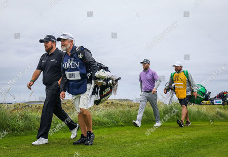 Shane Lowry and Branden Grace on the 16th hole