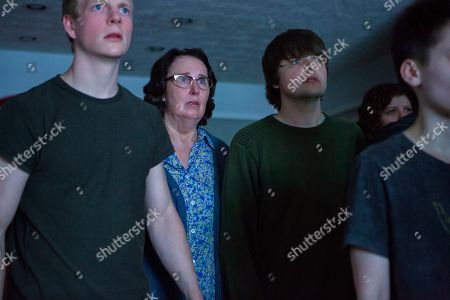 Patrick Gibson as Steve Winchell, Phyllis Smith as Betty Broderick-Allen and Brendan Meyer as Jesse