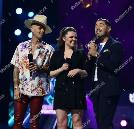 Jesse and Joy and and Borja Voces on stage