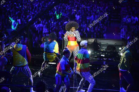 Amara La Negra performs on stage