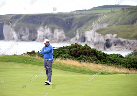 JB Holmes of the USon the green during the second round of the British Open Golf Championship at Royal Portrush, Northern Ireland, 19 July 2019.