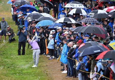 Branden Grace of South Africa plays from the rough during the second round of the British Open Golf Championship at Royal Portrush, Northern Ireland, 19 July 2019.