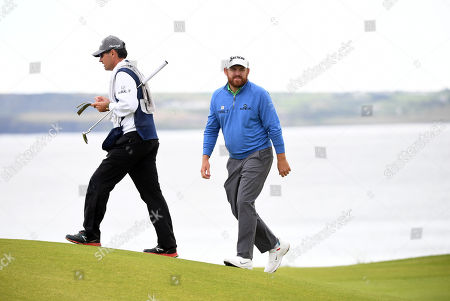 JB Holmes of the US on the green during the second round of the British Open Golf Championship at Royal Portrush, Northern Ireland, 19 July 2019.