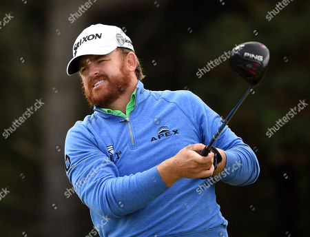 JB Holmes of the US tees off during the second round of the British Open Golf Championship at Royal Portrush, Northern Ireland, 19 July 2019.