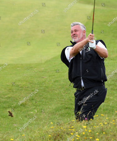 Darren Clarke of Northern Ireland plays from the rough during the second round of the British Open Golf Championship at Royal Portrush, Northern Ireland, 19 July 2019.