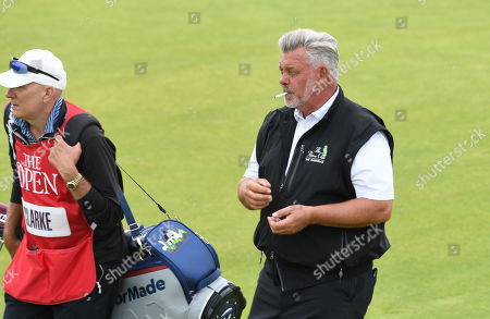 Darren Clarke of Northern Ireland during the second round of the British Open Golf Championship at Royal Portrush, Northern Ireland, 19 July 2019.
