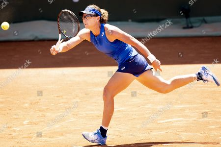 Samantha Stosur from Australia in action during her quarter final match against Fiona Ferro from France at the WTA International Ladies Open Lausanne tournament, in Lausanne, Switzerland, 19 July 2019.