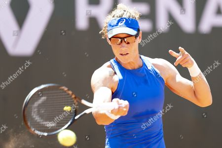 Stock Image of Samantha Stosur from Australia in action during her quarter final match against Fiona Ferro from France at the WTA International Ladies Open Lausanne tournament, in Lausanne, Switzerland, 19 July 2019.