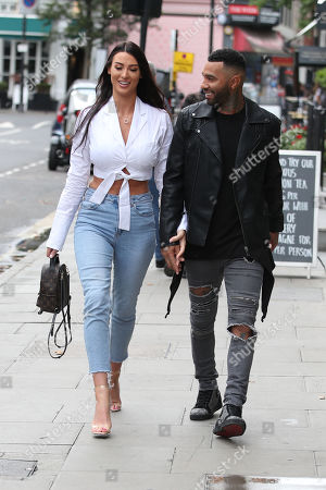 Jermaine Pennant and his wife Alice Goodwin