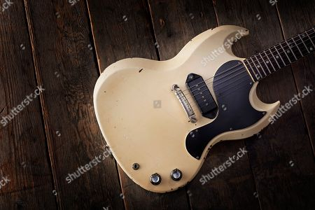 A Vintage 1962 Gibson Sg Tv Electric Guitar Previously Owned By English Rock Musician Julian Cope