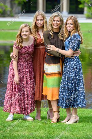 Queen Maxima with children Princess Amalia, Princess Alexia and Princess Ariane