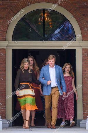 King Willem-Alexander, Queen Maxima with children Princess Amalia, Princess Alexia and Princess Ariane