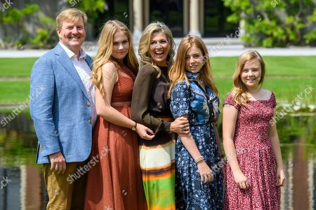 Editorial image of Dutch Royal family summer photocall, Huis ten Bosch Palace, The Hague, Netherlands - 19 Jul 2019