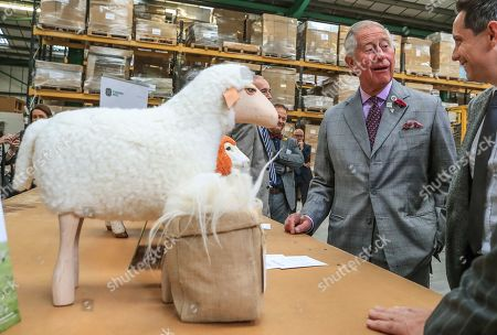 Prince Charles visit to 'Woolcool', Staffordshire