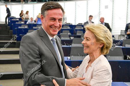 Ursula von der Leyen elected President of the European Commission with David McAllister
