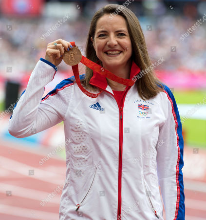 Goldie Sayers is awarded her 2008 Beijing Olympic Medal and she wears her original Beijing tracksuit