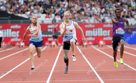 Jonnie Peacock (GB) wins the Mens T44-64 100m
