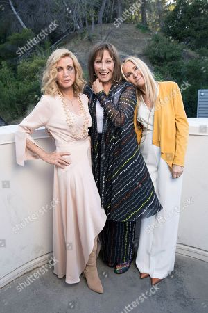 "Donna Mills, Michele Lee, Joan Van Arc. Knots Landing"" co-stars Donna Mills, from left, Michele Lee and Joan Van Ark pose for a portrait during the Jose Iturbi Foundation's reception preceding a concert celebrating conductor Gustavo Dudamel's 10th anniversary with LA Philharmonic at the Hollywood Bowl, in Los Angeles. Long-running nighttime soap ""Knots Landing"" marks its 40th anniversary in December"