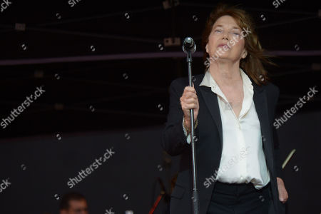 Jane Birkin performs during Les Vieilles Charrues Festival in Carhaix, France, 19 July 2019. The music festival runs from 18 to 21 July.