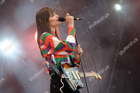 Clara Luciani performs during Les Vieilles Charrues Festival in Carhaix, France, 19 July 2019. The music festival runs from 18 to 21 July.