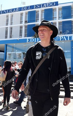 Swedish citizen Ola Bini leaves the Attorney's Office after his weekly appearance, in Quito, Ecuador, 19 July 2019. Bini, friend of Julian Assange and under investigation for alleged espionage, denied that the WikiLeaks founder used Ecuador's Embassy in London to interfere in the US presidential election.