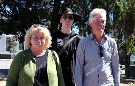 Swedish citizen Ola Bini (C) and his parents, Dag Gustafsson (R) and Görel Bini (L) leave the Attorney's Office after his weekly appearance, in Quito, Ecuador, 19 July 2019. Bini, friend of Julian Assange and under investigation for alleged espionage, denied that the WikiLeaks founder used Ecuador's Embassy in London to interfere in the US presidential election.