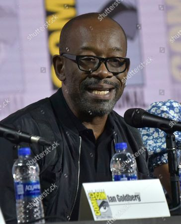 """Stock Picture of Lennie James speaks at the """"Fear The Walking Dead"""" Panel on day two of Comic-Con International, in San Diego"""