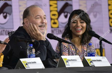 "Ruben Blades, Karen David. Ruben Blades, left, and Karen David participate in a ""Fear The Walking Dead"" Panel on day two of Comic-Con International, in San Diego"